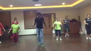 "Attarintiki Daredi ""kiraku"" video song (zumba fitness with VJ)"