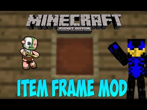 how to make an item frame in minecraft pe
