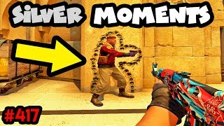 300 IQ vs 10 IQ SILVER MOMENTS! - CS:GO BEST ODDSHOTS #417