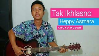 Download Lagu (TUTORIAL GITAR) Tak Ikhlasno - Heppy Asmara | chord mudah. mp3