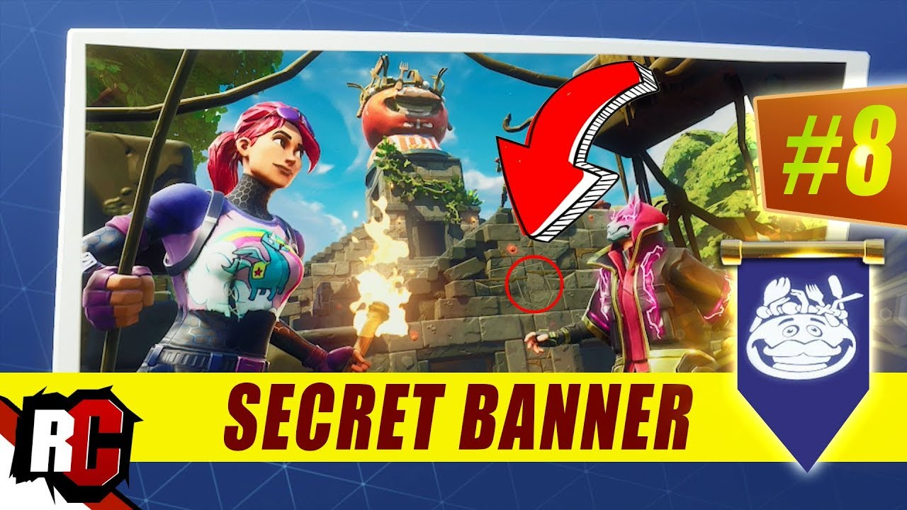 SECRET Banner Location WEEK 8 Fortnite (Previously Secret Battle Star    Banner Location Week 8)