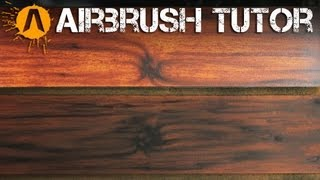 How to Airbrush Wood Texture