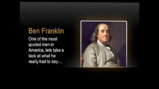 Ben Franklin Quotes- Freemen Capitalist Collection of Ben Franklin Quotes