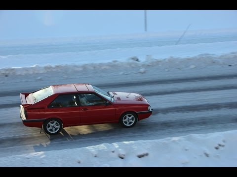 A Tribute To Audi Coupé Quattro Typ 85 In Snow- (brutal Sound)