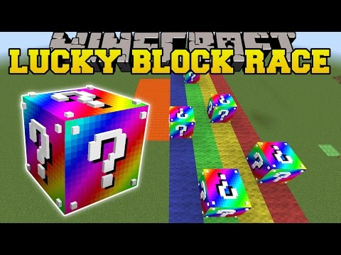 Thumbnail: Minecraft: EXTREME RAINBOW LUCKY BLOCK RACE - Lucky Block Mod - Modded Mini-Game