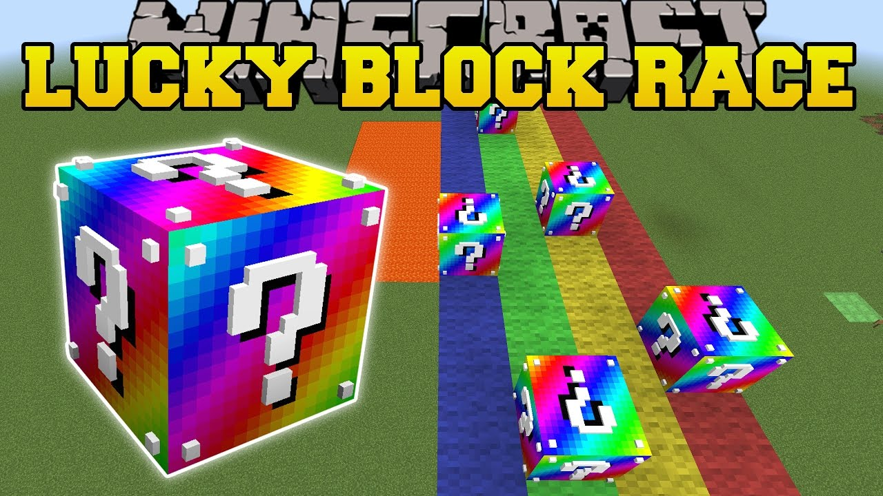 Minecraft: EXTREME RAINBOW LUCKY BLOCK RACE - Lucky Block Mod - Modded  Mini-Game