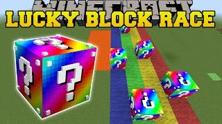 Minecraft: EXTREME RAINBOW LUCKY BLOCK RACE - Lucky Block Mod - Modded Mini-Game