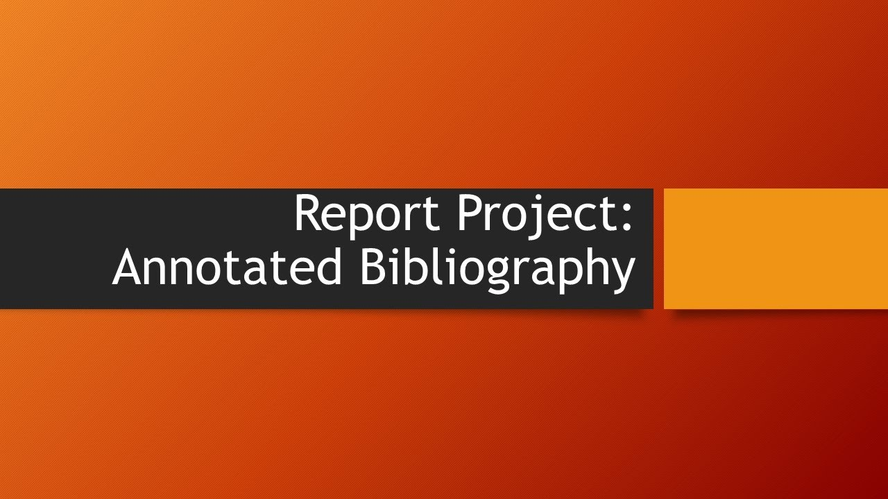 youtube annotated bibliography Automatic works cited and bibliography formatting for mla, apa and chicago/turabian citation styles now supports 7th edition of mla.