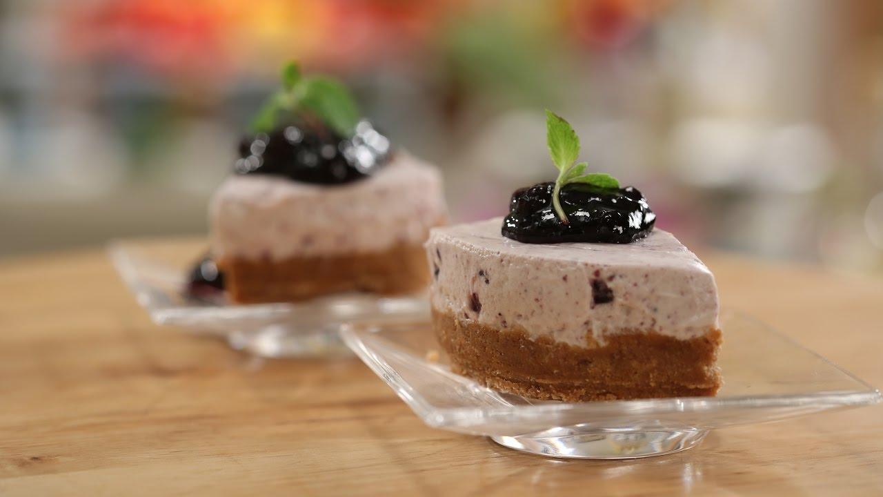 Eggless Blueberry Cheesecake Sanjeev Kapoor Khazana