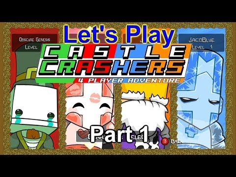 Let's Play Castle Crashers Co-Op Part 1 - Professional Crashers