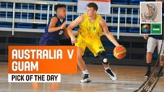 Between the legs defense - 2014 FIBA Oceania U19 Championship - Australia v Guam