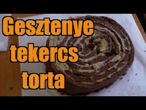 Gesztenye tekercs torta 24209 Kcal / 4 - Interaktiv - ZabaMesterek