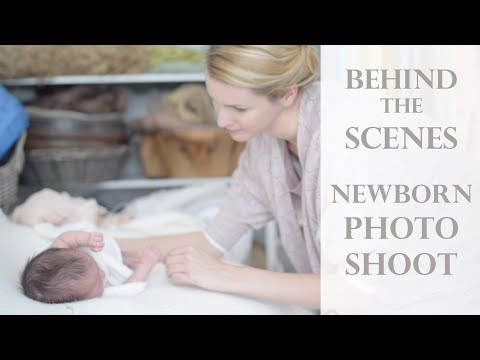 Behind the Scenes - Full Newborn Photoshoot - One Month old baby