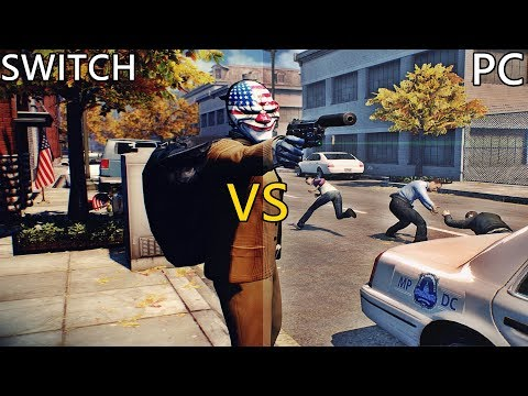 Payday 2 Graphics Comparison (Nintendo Switch vs PC)