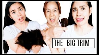 MY SISTER CUTS MY HAIR! THE BIG TRIM- GETTING THICK ENDS- Beautyklove