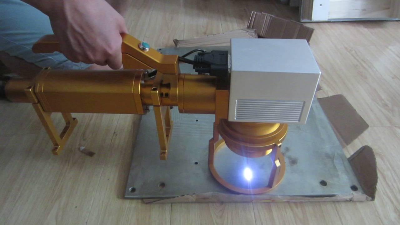 Handheld Fiber Laser Marking Machine Portable Metal