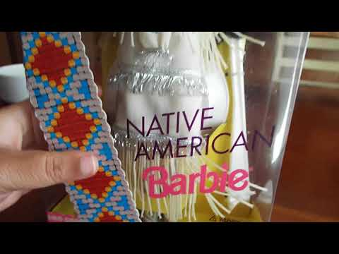 1992  barbie  native  american   dolls  of world  collection