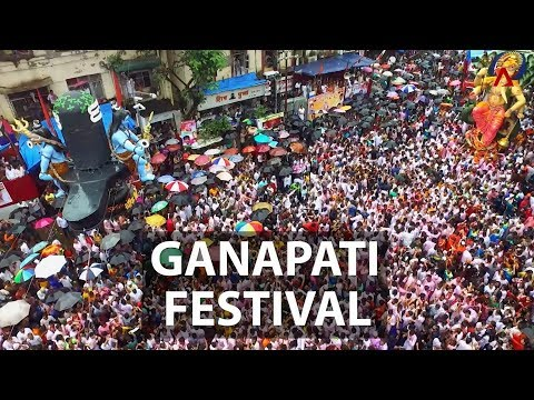 Ganapati Festival / Ganesh Chaturthi in Mumbai | Aerial India | CNA Insider