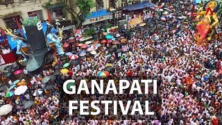 Ganapati Festival/Ganesh Chaturthi in Mumbai   Aerial India   CNA Insider