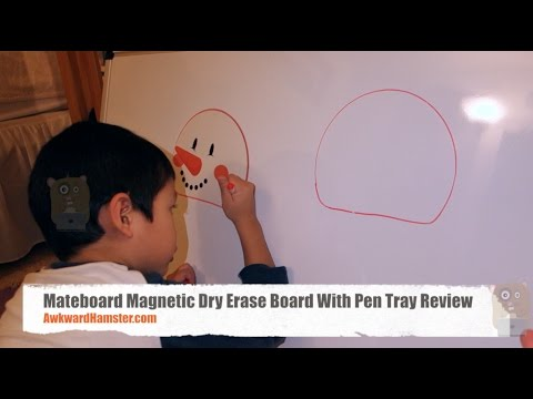 Mateboard Magnetic Dry Erase Board With Pen Tray Review