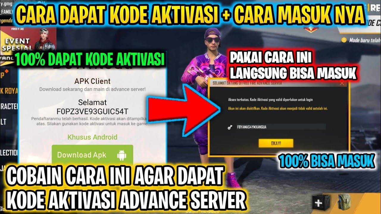 Cara Dapat Kode Aktivasi Ff Advance Dan Cara Masuk Advance Server Free Fire Nya 100 Berhasil Masuk Youtube