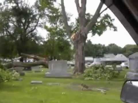 Linwood Cemetery Storm Damage