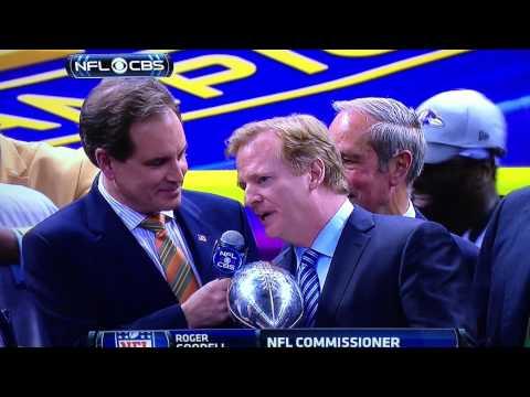 2013 Super Bowl XLVII Trophy Ceremony
