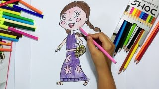 How to draw Chutki of Chota Bheem (Step by Step)