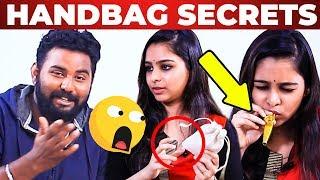 'Tampons' Inside Gaana Girl's Handbag | What's Inside The Handbag Secrets Revealed
