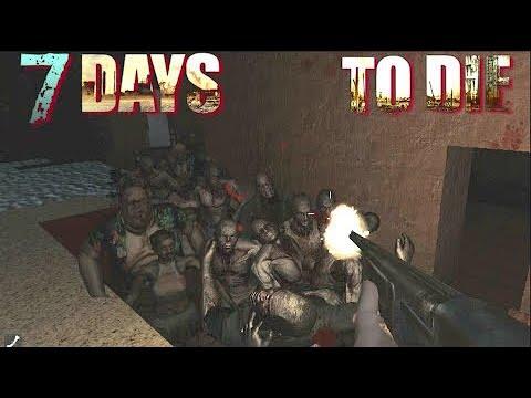 7 Days To Die Day 7 Horde Red Moon!