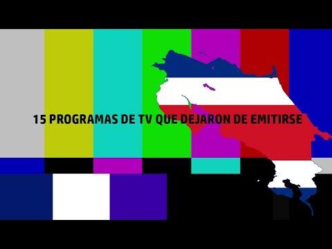 15 Programas de Television en Costa Rica que dejaron de emitirse