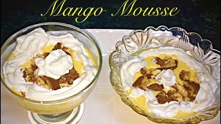 Easy Eggless Mango Mousse Recipe by RJ Kitchen