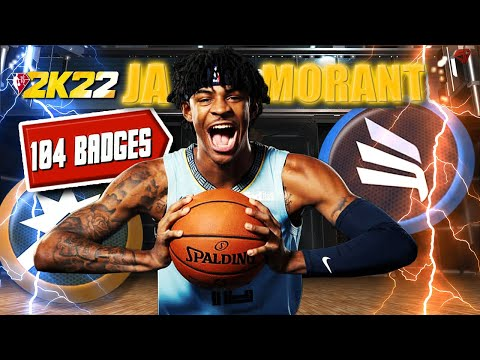 NBA 2K22 - 104 BADGE POINTS / The MOST Dangerous 6'3 PG Ja Morant BUILD