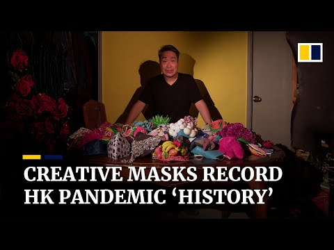 One creative mask a day: Hong Kong theatre costume designer documents life during the pandemic