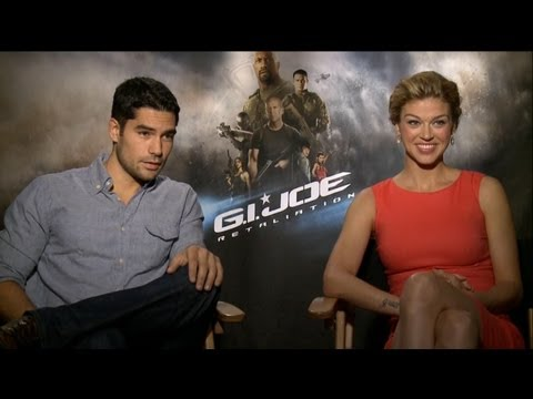D.J. Cotrona & Adrianne Palicki - G.I. Joe: Retaliation Interview HD