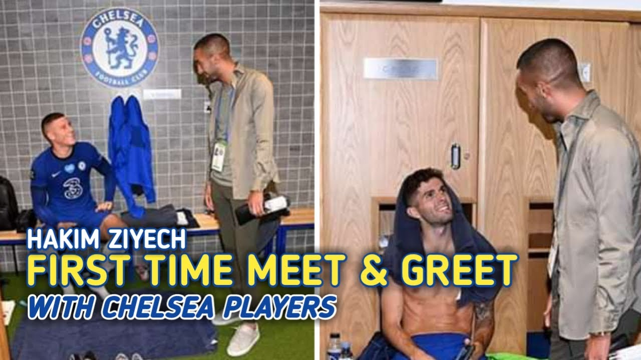 Hakim Ziyech's First Training at Chelsea • Meet and Greet Chelsea Players