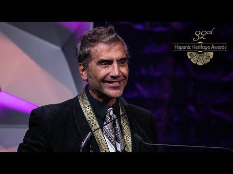 Alejandro Fernández Receives The Music Award At The 32nd Hispanic Heritage Awards
