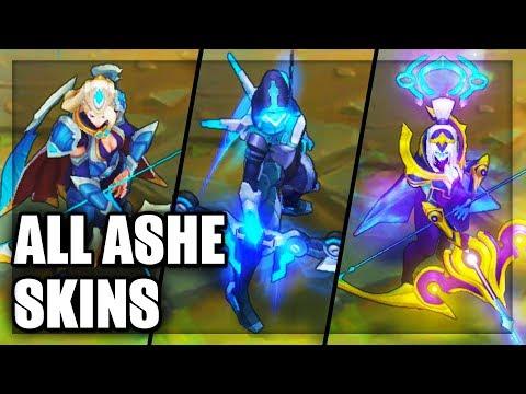 All Ashe Skins Spotlight (League of Legends)