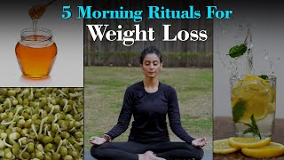5 Morning Habits For Weight Loss | Fit Tak