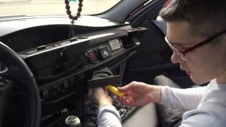 BMW E60 Замена подстаканников