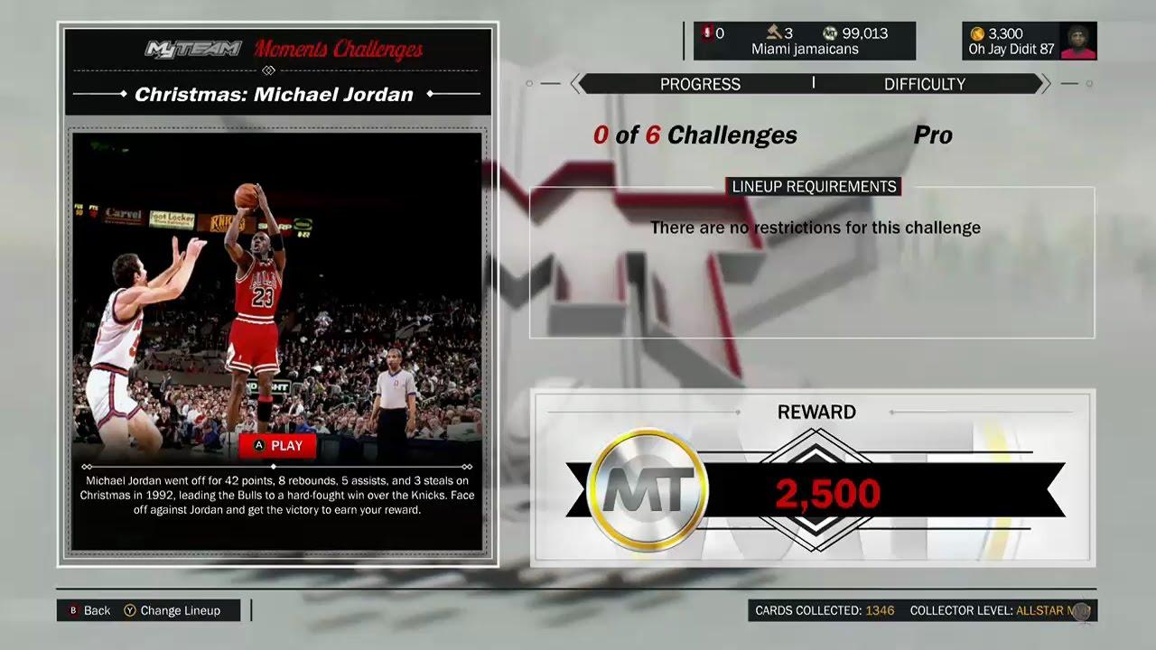 NBA 2K17 MICHAEL JORDAN MOMENTS CHALLENGE FT KIKI VANDEWEGHE