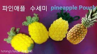 파인애플 파우치 수세미 (pineapple Pouch …