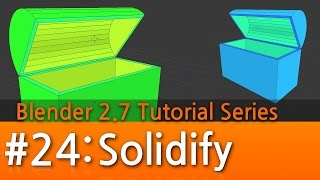 Blender 2.7 Tutorial #24 : Solidify #b3d