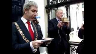 Irish Proclamation at The Mansion House, Dawson St. Dublin