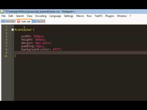 Javascript Loan Calculator - Part 1 - Intro and CSS - YouTube
