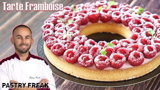Recipe of the RASPBERRY TART by Cyril Lignac