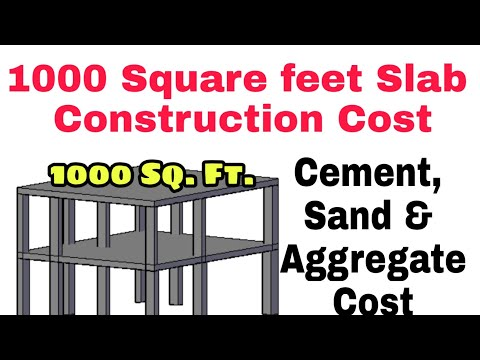 1000 Square Feet House Slab Construction Cost ¦¦ Material Costing