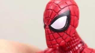 The Amazing Spider-man 2 Marvel Legends Spider-Man Ultimate Green Goblin BAF Wave Figure Review