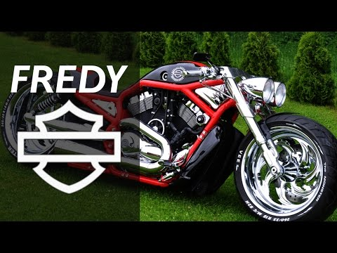 harley davidson vrod blue by fredy motorcycle muscle custom review sound exhaust by dark kustom. Black Bedroom Furniture Sets. Home Design Ideas