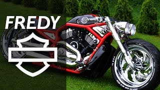 harley davidson v rod supercharged by fredy   motorcycle muscle custom